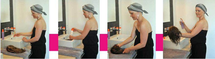 Limpiar peluca